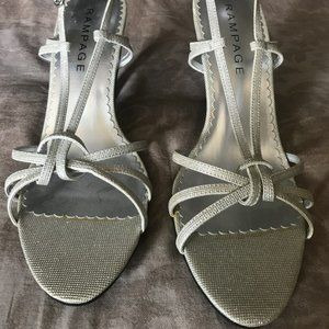Rampage Silver sandals Size 10